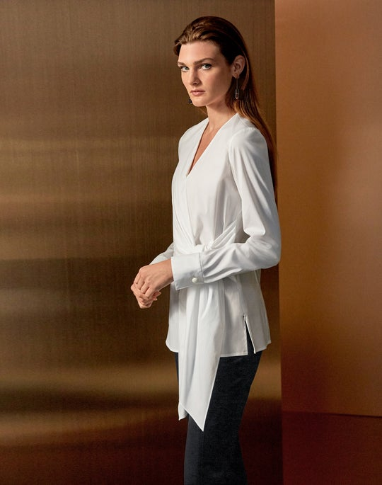 Olivia Blouse and Satin Waldorf Slim Pant