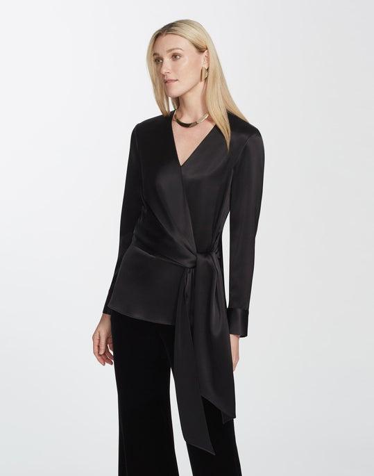 Reverie Satin Cloth Olivia Blouse