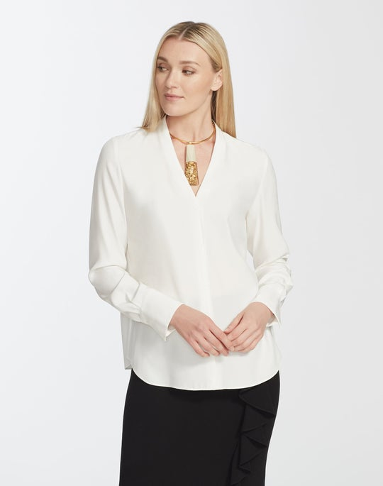 Matte Silk Margaret Blouse