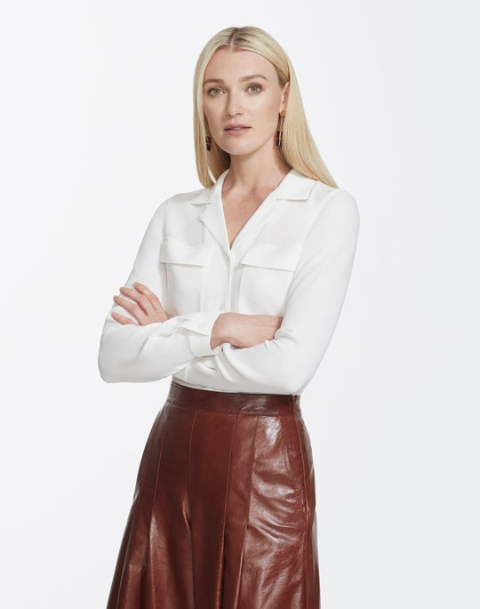 Silk Double Georgette Rigby Blouse