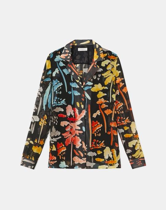 Rigby Blouse In Blooming Eden Print Silk