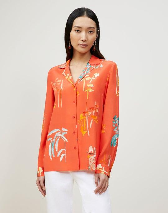 Rigby Blouse In Oasis Print Silk