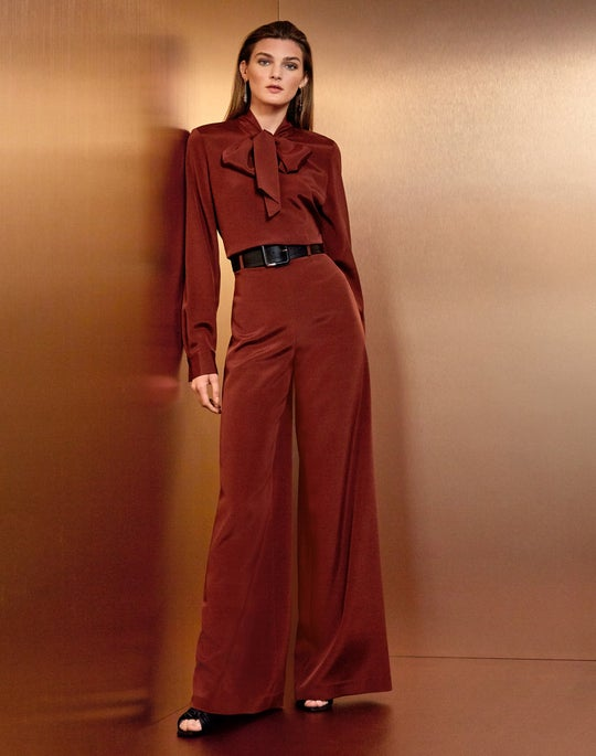 Genevive Blouse and Jackson Wide-Leg Pant