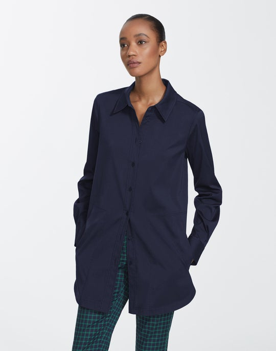 Petite Italian Stretch Cotton Michelle Shirt