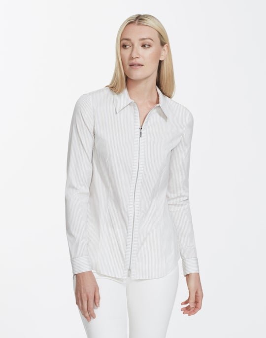 Glistening Stripe Shirting Connor Blouse