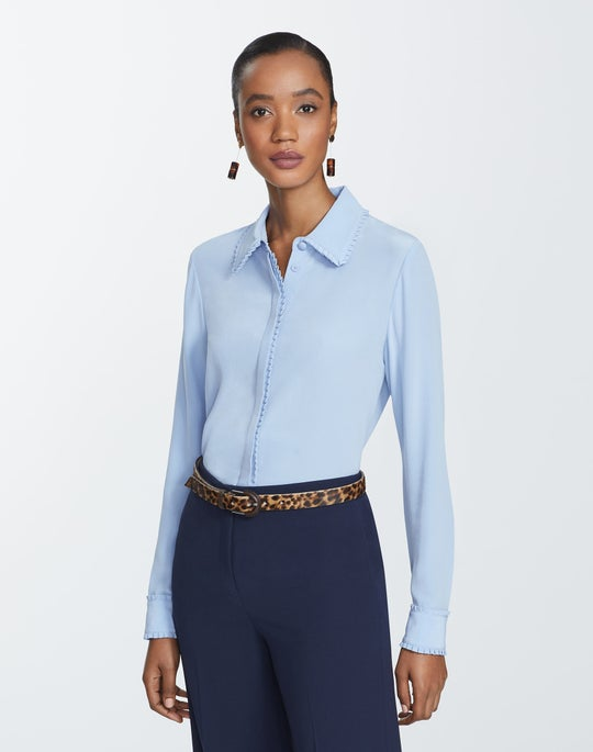 Lightweight Sandwashed Silk Duvall Blouse