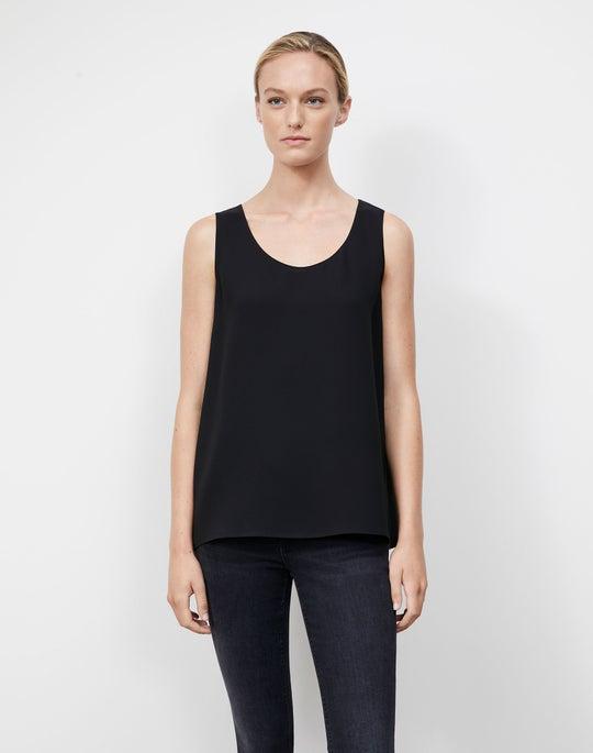 Plus-Size Silk Double Georgette Finnley Top