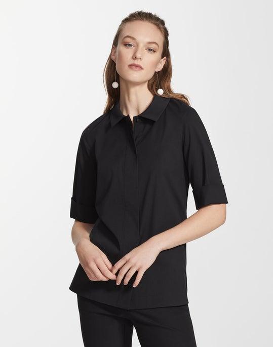 Petite Italian Stretch Cotton Farrell Shirt
