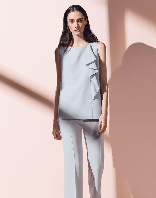 Jackie Blouse and Cropped Manhattan Flare Pant