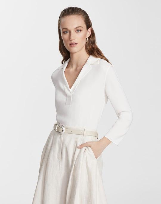 Plus-Size Silk Double Georgette Maya Blouse