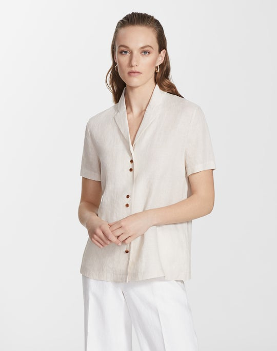 Plus-Size Illustrious Linen Bourne Blouse