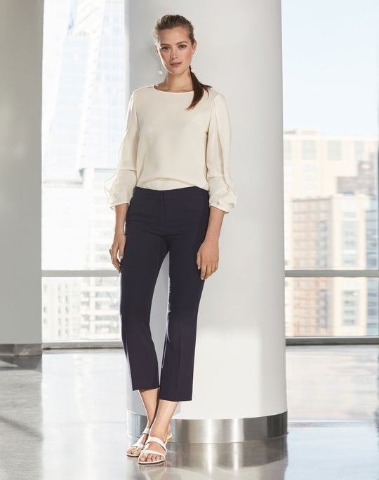 Perrin Blouse and Cropped Manhattan Flare Pant