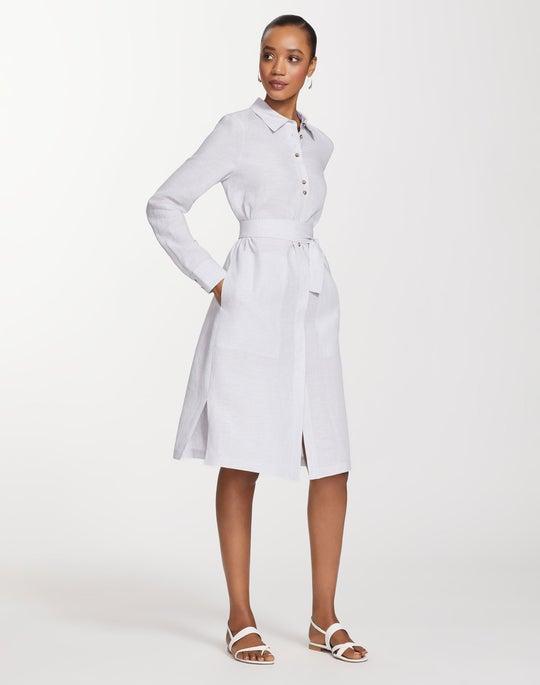 Plus-Size Illustrious Linen Michelle Duster