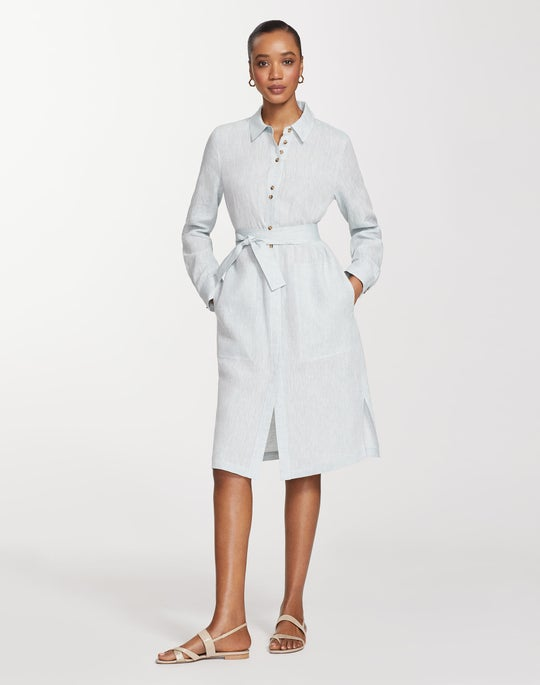 Illustrious Linen Michelle Duster Dress