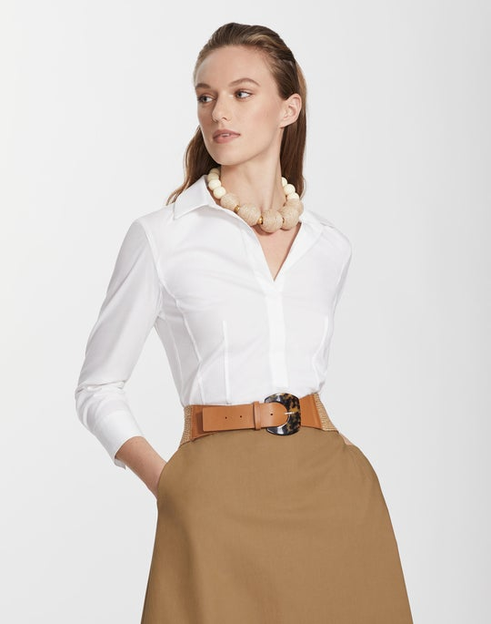 Italian Stretch Cotton Katherine Blouse
