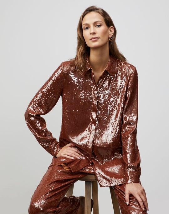Plus-Size Spectrum Sequins Ruxton Shirt