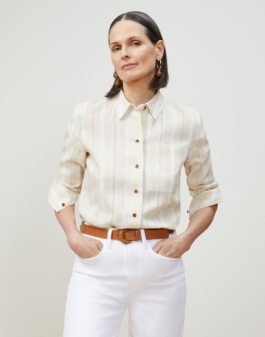 Ruxton Shirt In Striped Kindlinen