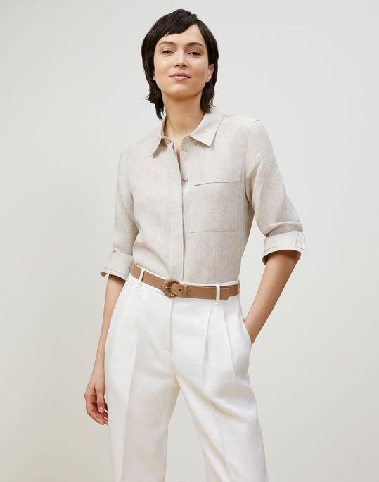 Plus-Size Ruxton Shirt In Illustrious Linen