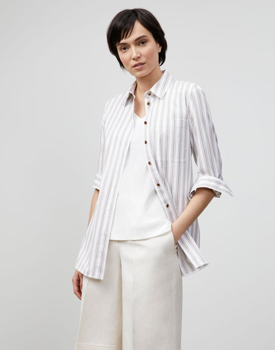 Ruxton Shirt In KindCotton Marina Stripe