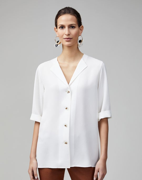 Petite Finesse Crepe Zimmer Blouse