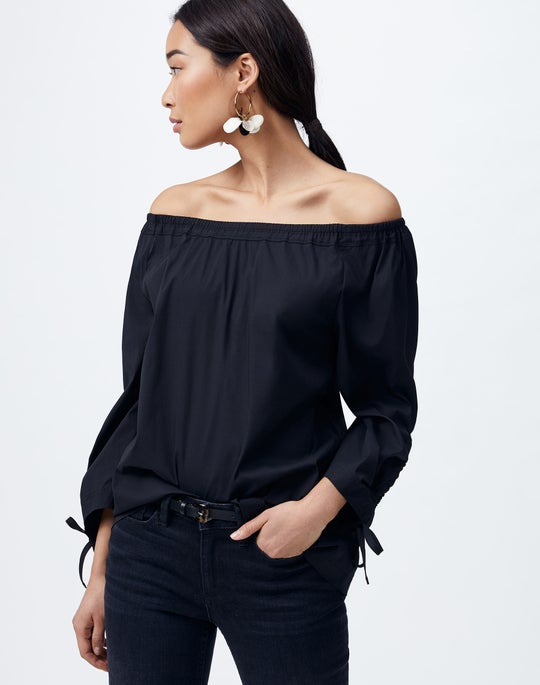 Plus-Size Classic Stretch Cotton Keene Blouse