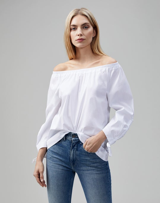 Petite Classic Stretch Cotton Keene Blouse