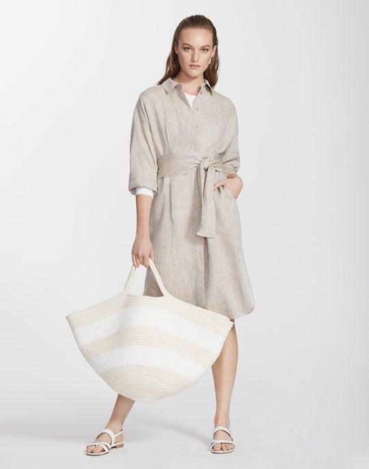 Petite Illustrious Linen Rhodes Duster Dress