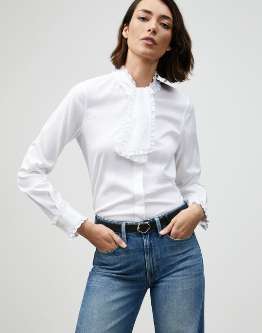 Petite Italian Stretch Cotton Rowland Shirt