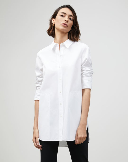 Plus-Size Italian Sculpted Cotton Wilkes Shirt
