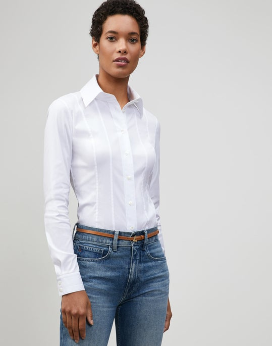Plus-Size Italian Stretch Cotton Abbott Shirt