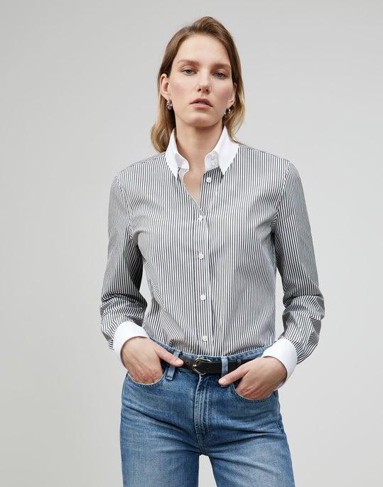 Plus-Size Centennial Stripe Davitt Shirt