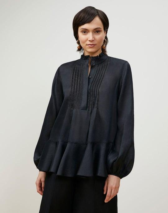 Petite Raines Blouse In Gemma Cloth