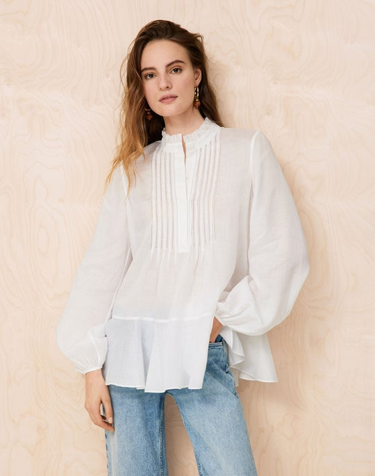 Raines Blouse and Bedford Jean