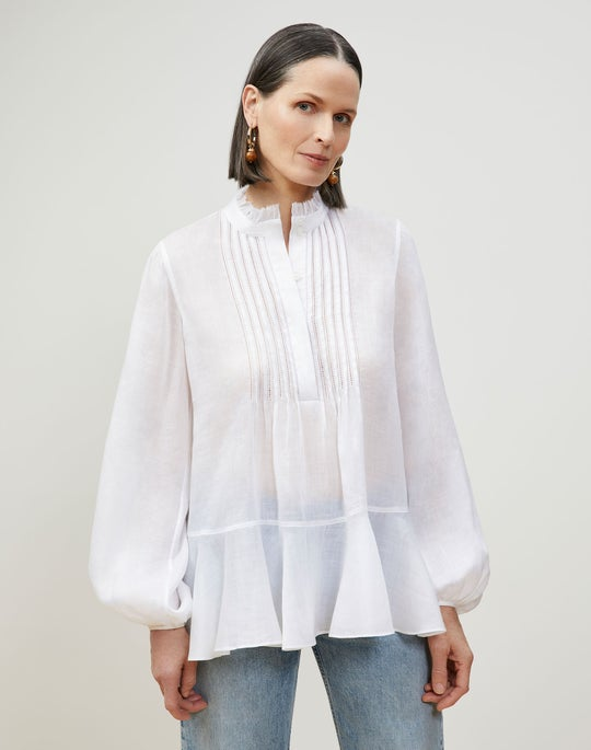 Raines Blouse In Gemma Cloth