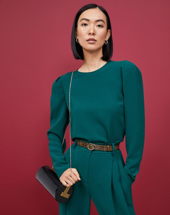 Gia Blouse and Ellis Pleated Pant