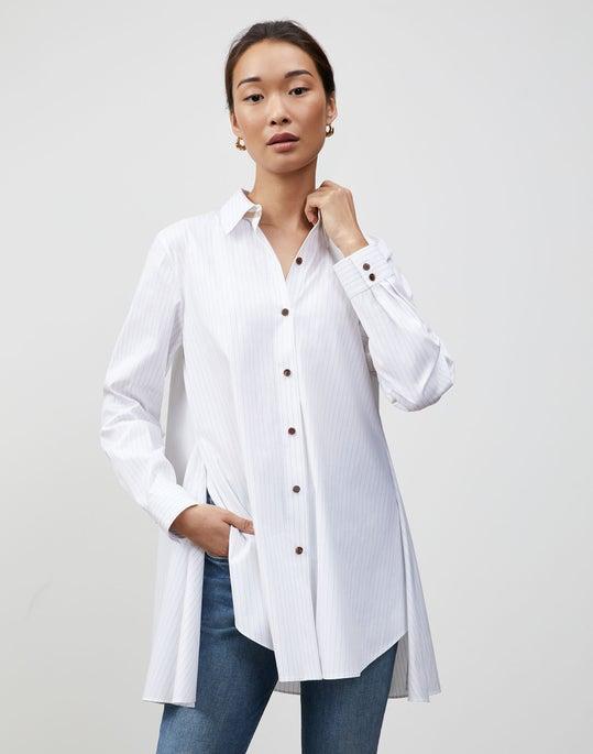 Plus-Size Stanford Stripe Carolyn Shirt