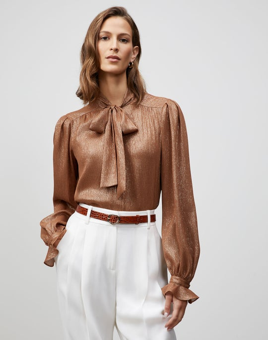 Glimmering Weave Bryon Blouse