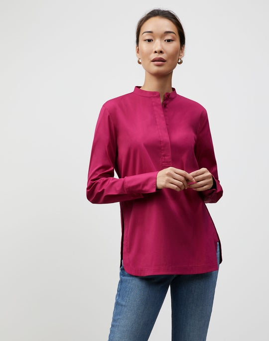 Plus-Size Italian Stretch Cotton Axler Shirt