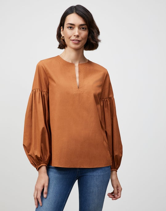 Italian Sculpted Cotton Elina Shirt