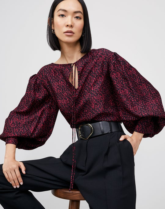 Izabel Blouse and Degraw Pant