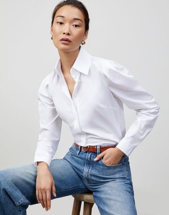 Italian Sculpted Cotton Illiana Shirt