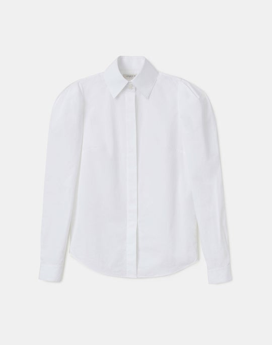 Petite Italian Sculpted Cotton Illiana Shirt
