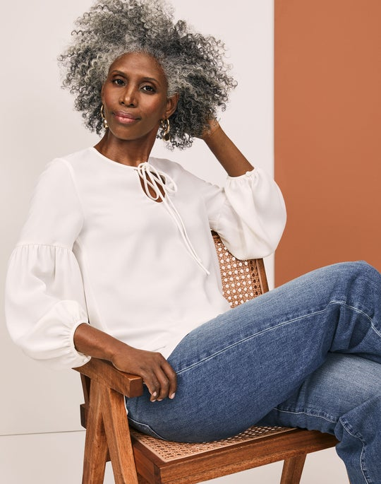 Lupe Blouse and Wyckoff Jean