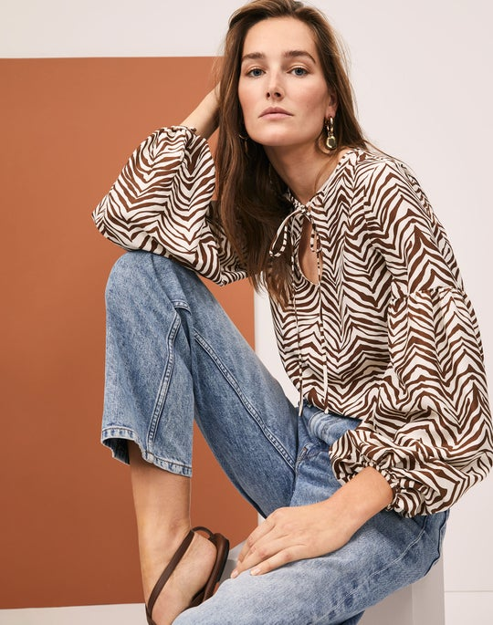 Lupe Blouse and Bedford Jean