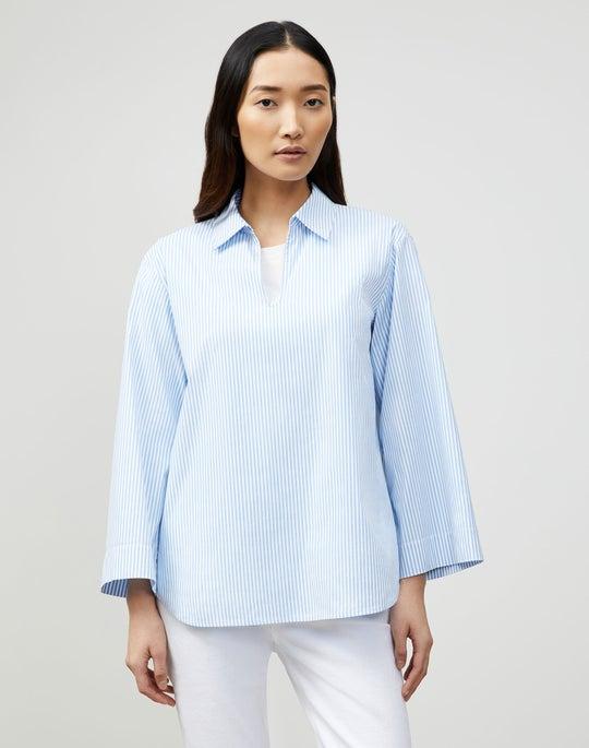 Petite Pelham Shirt In KindCotton Courtland Stripe