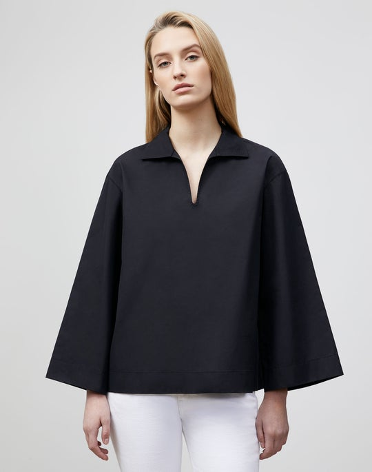 Plus-Size Dales Shirt In Italian Sculpted KindCotton