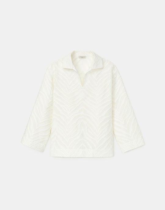 Dales Shirt In Italian Zebra Jacquard Cotton