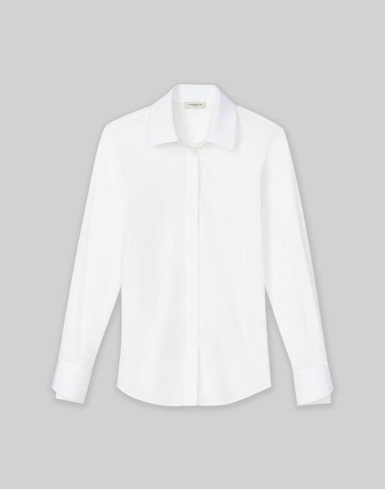 Petite Wright Shirt In Italian Stretch Cotton