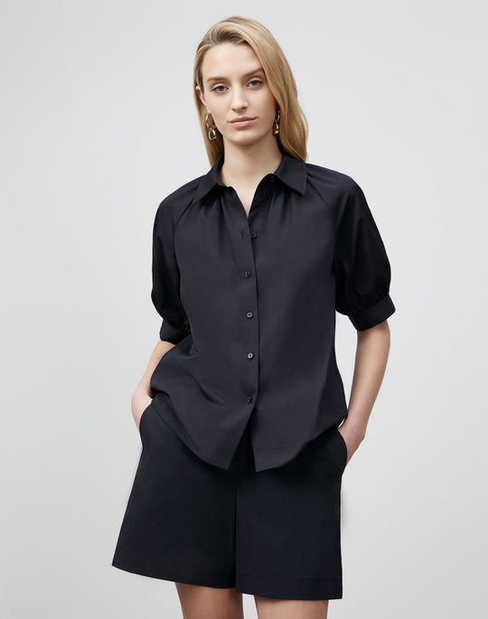 Petite Kai Shirt In Italian Sculpted KindCotton