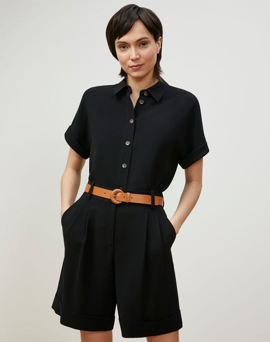 Darby Blouse In Finesse Crepe